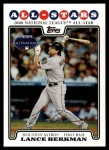 2008 Topps Updates #25   -  Lance Berkman All-Star Front Thumbnail