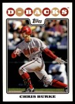 2008 Topps Updates #103  Chris Burke  Front Thumbnail