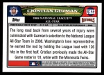 2008 Topps Updates #23   -  Cristian Guzman All-Star Back Thumbnail