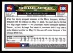 2008 Topps Updates #141  Michael Aubrey  Back Thumbnail