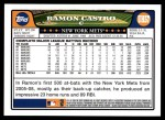 2008 Topps Updates #57  Ramon Castro  Back Thumbnail