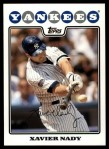 2008 Topps Updates #36  Xavier Nady  Front Thumbnail