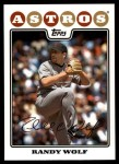 2008 Topps Updates #61  Randy Wolf  Front Thumbnail
