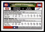 2008 Topps Updates #94  Edinson Volquez  Back Thumbnail