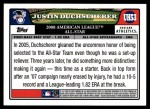 2008 Topps Updates #53   -  Justin Duchscherer All-Star Back Thumbnail