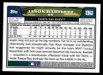 2008 Topps Updates #43  Jason Bartlett  Back Thumbnail