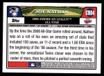 2008 Topps Updates #64   -  Joe Nathan All-Star Back Thumbnail