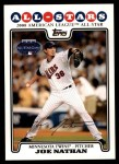 2008 Topps Updates #64   -  Joe Nathan All-Star Front Thumbnail