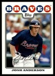 2008 Topps Updates #7  Josh Anderson  Front Thumbnail