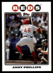 2008 Topps Updates #18  Andy Phillips  Front Thumbnail