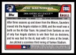 2008 Topps Updates #82   -  Joe Saunders All-Star Back Thumbnail