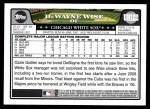 2008 Topps Updates #122  DeWayne Wise  Back Thumbnail