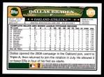 2008 Topps Updates #78  Dallas Braden  Back Thumbnail