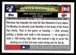 2008 Topps Updates #113   -  Justin Morneau All-Star Back Thumbnail