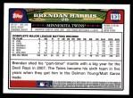 2008 Topps Updates #30  Brendan Harris  Back Thumbnail