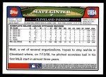 2008 Topps Updates #54  Matt Ginter  Back Thumbnail