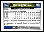 2008 Topps Updates #120  Angel Berroa  Back Thumbnail
