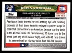 2008 Topps Updates #46   -  Kevin Youkilis All-Star Back Thumbnail