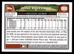 2008 Topps Updates #110  Jose Valverde  Back Thumbnail