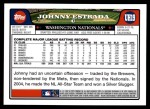 2008 Topps Updates #19  Johnny Estrada  Back Thumbnail