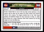 2008 Topps Updates #129  Nick Adenhart  Back Thumbnail