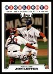2008 Topps Updates #150   -  Jon Lester  Highlights Front Thumbnail