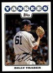 2008 Topps Updates #114  Billy Traber  Front Thumbnail
