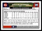 2008 Topps Updates #79  Willie Harris  Back Thumbnail