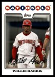 2008 Topps Updates #79  Willie Harris  Front Thumbnail