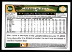 2008 Topps Updates #102  Matt Murton  Back Thumbnail