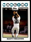 2008 Topps Updates #75  Matt Treanor  Front Thumbnail