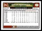 2008 Topps Updates #22  Brian Moehler  Back Thumbnail