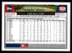 2008 Topps Updates #139  Jon Lieber  Back Thumbnail