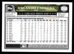 2008 Topps Updates #160  Orlando Cabrera  Back Thumbnail
