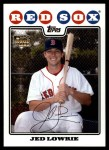 2008 Topps Updates #117  Jed Lowrie  Front Thumbnail