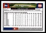 2008 Topps Updates #60  Jim Edmonds  Back Thumbnail