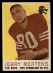 1959 Topps #42  Jerry Mertens  Front Thumbnail