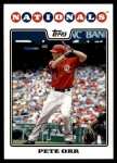 2008 Topps Updates #72  Pete Orr  Front Thumbnail