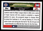 2008 Topps Updates #29   -  Ryan Ludwick All-Star Back Thumbnail