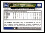 2008 Topps Updates #69  Chad Moeller  Back Thumbnail