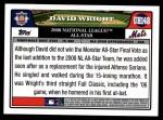 2008 Topps Updates #148   -  David Wright All-Star Back Thumbnail