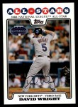2008 Topps Updates #148   -  David Wright All-Star Front Thumbnail
