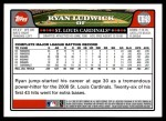 2008 Topps Updates #49  Ryan Ludwick  Back Thumbnail