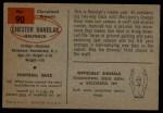 1954 Bowman #90  Chester Hanulak  Back Thumbnail