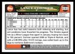 2008 Topps Updates #199  Lance Cormier  Back Thumbnail