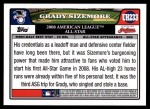 2008 Topps Updates #233   -  Grady Sizemore All-Star Back Thumbnail