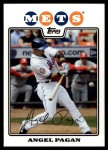 2008 Topps Updates #224  Angel Pagan  Front Thumbnail
