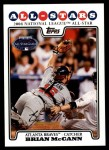 2008 Topps Updates #226   -  Brian McCann All-Star Front Thumbnail