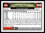 2008 Topps Updates #299  Jolbert Cabrera  Back Thumbnail