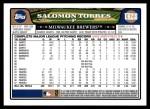 2008 Topps Updates #218  Salomon Torres  Back Thumbnail